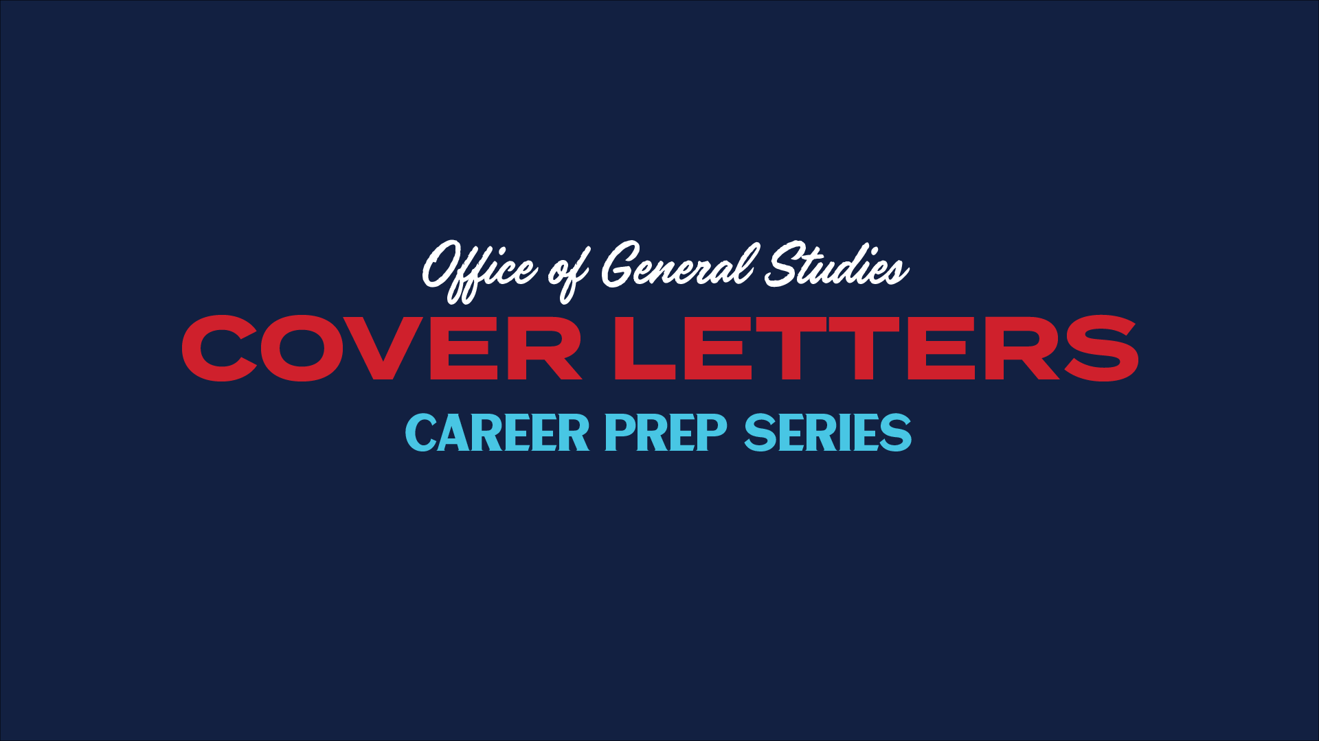 graphic for cover letter career prep video