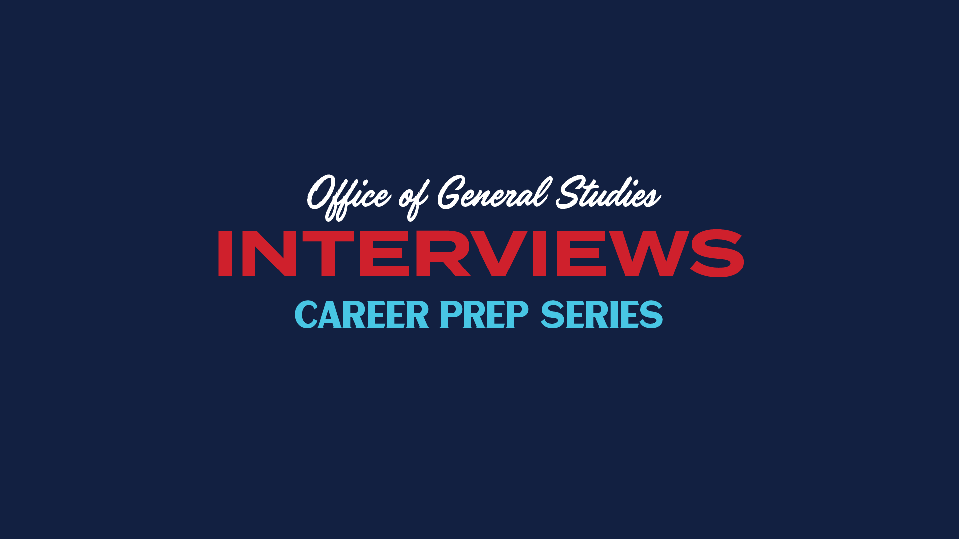 graphic for interviews career prep video